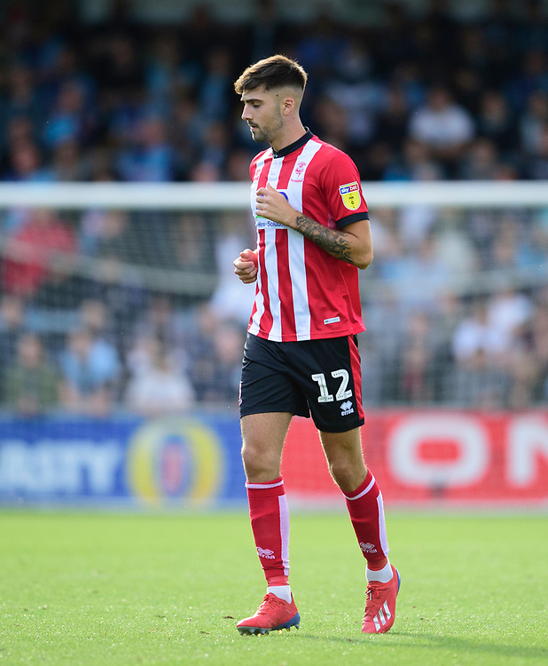 Lincoln City's Ellis Chapman<br /> <br /> Photographer Andrew Vaughan/CameraSport<br /> <br /> The EFL Sky Bet League One - Wycombe Wanderers v Lincoln City - Saturday 7th September 2019 - Adams Park - Wycombe<br /> <br /> World Copyright © 2019 CameraSport. All rights reserved. 43 Linden Ave. Countesthorpe. Leicester. England. LE8 5PG - Tel: +44 (0) 116 277 4147 - admin@camerasport.com - www.camerasport.com