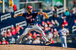2 March 2019: Minnesota Twins pitcher Jake Reed on the mound during a Spring Training game against the Washington Nationals at the Ballpark of the Palm Beaches in West Palm Beach, Florida. The Twins fell to the Nationals 10-6 in Grapefruit League play. Mandatory Credit: Ed Wolfstein Photo *** RAW (NEF) Image File Available ***