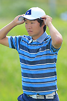 Yosuke Asaji (JPN) walks off the 2nd tee during Thursday's Round 1 of the 148th Open Championship, Royal Portrush Golf Club, Portrush, County Antrim, Northern Ireland. 18/07/2019.<br /> Picture Eoin Clarke / Golffile.ie<br /> <br /> All photo usage must carry mandatory copyright credit (© Golffile | Eoin Clarke)