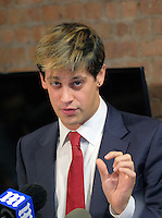 www.acepixs.com<br /> <br /> February 21 2017, New York City<br /> <br /> Right wing commentator Milo Yiannopoulos appeared at a news conference during which he announced his resignation as a senior editor with Breitbart News on February 21 2017 in New York City<br /> <br /> By Line: Curtis Means/ACE Pictures<br /> <br /> <br /> ACE Pictures Inc<br /> Tel: 6467670430<br /> Email: info@acepixs.com<br /> www.acepixs.com