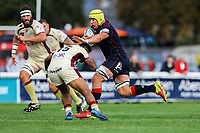 James Tyas of London Scottish in action during the Greene King IPA Championship match between London Scottish Football Club and Doncaster Knights at Richmond Athletic Ground, Richmond, United Kingdom on 30 September 2017. Photo by Jason Brown / PRiME Media Images.