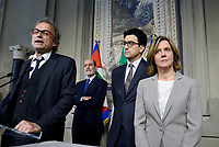Roma, 12 Aprile 2018<br /> Maurizio Lupi,Manfred Schullian, Beatrice Lorenzin<br /> Secondo giro di Consultazioni per la formazione del Governo