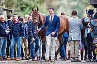 USA-Matthew Flynn presents Wizzerd during the First Horse Inspection for the CCIO4*-L FEI Nations Cup Eventing. 2019 Military Boekelo-Enschede International Horse Trials. Wednesday 8 October. Copyright Photo: Libby Law Photography.