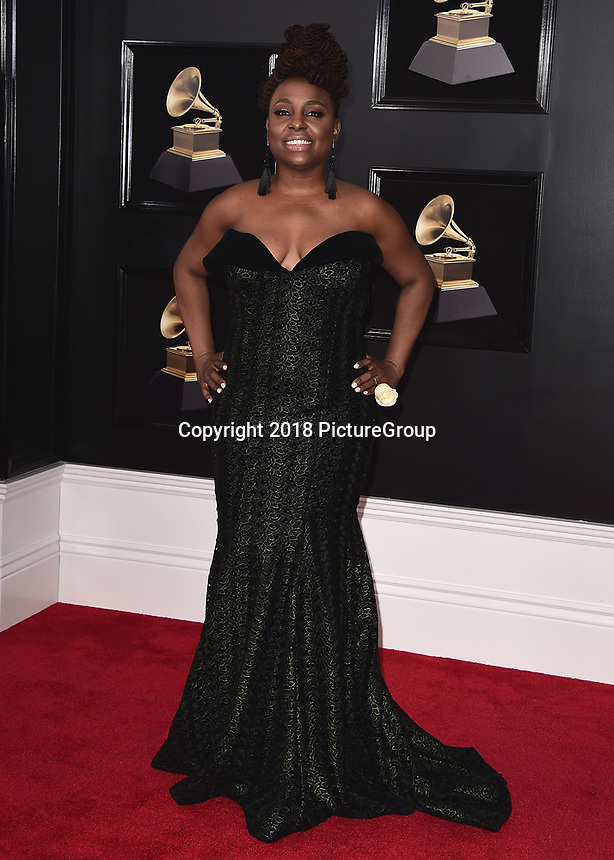 NEW YORK - JANUARY 28:  Ledisi at the 60th Annual Grammy Awards at Madison Square Garden on January 28, 2018 in New York City. (Photo by Scott Kirkland/PictureGroup)