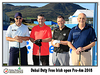 Richie Ramsay (SCO) team on the 10th tee during Wednesday's Pro-Am of the 2018 Dubai Duty Free Irish Open, held at Ballyliffin Golf Club, Ireland. 4th July 2018.<br /> Picture: Eoin Clarke | Golffile<br /> <br /> <br /> All photos usage must carry mandatory copyright credit (&copy; Golffile | Eoin Clarke)