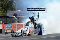 Jan. 16, 2013; Jupiter, FL, USA: NHRA top fuel dragster driver Brandon Bernstein during testing at the PRO Winter Warmup at Palm Beach International Raceway.  Mandatory Credit: Mark J. Rebilas-
