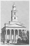 Saint Peter church Eaton Square Pimlico, engraving from 'Metropolitan Improvements, or London in the Nineteenth Century' London, England, UK 1828 , drawn by Thomas H Shepherd