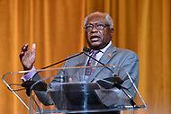 Washington, DC - September 14, 2018: U.S. Representative James Clyburn speaks after receiving an lNNPA leadership award during the National Newspaper Publishers Association awards banquet held at the Marriott Marquis in Washington, DC September 14, 2018.  (Photo by Don Baxter/Media Images International)