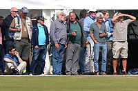 Spectators look on from the beer tent during Surrey CCC vs Essex CCC, Specsavers County Championship Division 1 Cricket at Guildford CC, The Sports Ground on 9th June 2017