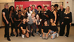 "Andre Polec, Christina Bennington, Bradley Dean, Lena Hall, Avoince Hoyles, Danielle Steers, Tyrick Wiltez Jones, Jay Scheib, Xena Gusthart and the cast during Jim Steinman's ""Bat Out of Hell - The Musical"" - Open Rehearsal at New York City Center on July 30, 2019 in New York City."