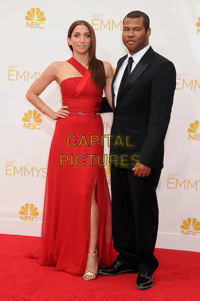 25 August 2014 - Los Angeles, California - Chelsea Peretti, Jordan Peele. 66th Annual Primetime Emmy Awards - Arrivals held at Nokia Theatre LA Live. <br /> CAP/ADM/BP<br /> &copy;BP/ADM/Capital Pictures