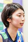 Nana Iwasaka of Japan talks to media during the post match press conference of the FIVB Volleyball Nations League Hong Kong match China and Japan on May 30, 2018 in Hong Kong, Hong Kong. Photo by Chris Wong / Power Sport Images