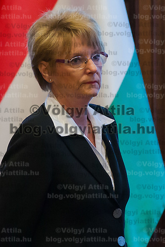 Rozsa Hofmann state secretary for Edication attends a meeting in Budapest, Hungary on February 05, 2013. ATTILA VOLGYI