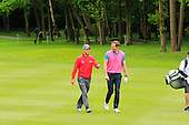 Martin Kaymer (GER) and Will Greenwood during the ProAm ahead of the 2016 BMW PGA Championships played over the West Course Wentworth from 26th to 29th May 2016. Picture Stuart Adams, www.golftourimages.com: 25/05/2016