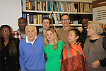 """Rehearsals for Ragtime starring One Life To Live Kerry Butler """"Claudia Reston"""" (green), Dick Latessa (Edge of Night) (blue), Matt Cavenaugh (also As The World Turns """"Adam Munson"""") (2nd left back), General Hospital Tyne Daly """"Caroline"""" (right), All My Children Norm Lewis """"Keith McLean"""" & now Scandal (plaid), As The World Turns Lea Salonga """"Lien Hughes"""" (multi), Young and the Restless Howard McGillan """"Snapper's brother - Greg Foster"""" (back R), Patina Miller (L) and Phillip Boykin (L) February 11, 2013 for a concert at Avery Fisher Hall, New York City, New York on Monday February 18, 2013. (Photo by Sue Coflin/Max Photos)"""