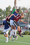 El Segundo, CA 02/04/10 - Rory Sillence (El Segundo#1), Ryan Klaser (Torrance#22) and unidentified El Segundo player in action during the El Segundo - Torrance league game, El Segundo defeated Torrance with a late minute goal in the second overtime period.