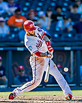 2 March 2019: Washington Nationals infielder Brandon Snyder connects for a go-ahead Grand Slam in the 8th inning of a Spring Training game against the Minnesota Twins at the Ballpark of the Palm Beaches in West Palm Beach, Florida. The Slam was the game winner, as the Nationals defeated the Twins 10-6 in Grapefruit League play. Mandatory Credit: Ed Wolfstein Photo *** RAW (NEF) Image File Available ***