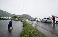 first riders over the top of the Col de Joux Plane (HC/1691m/11.6km/8.5%): Jarlinson Pantano (COL/IAM), Vincenzo Nibali (ITA/Astana) & Ion Izagirre (ESP/Movistar)<br /> <br /> Stage 20: Megève › Morzine (146.5km)<br /> 103rd Tour de France 2016
