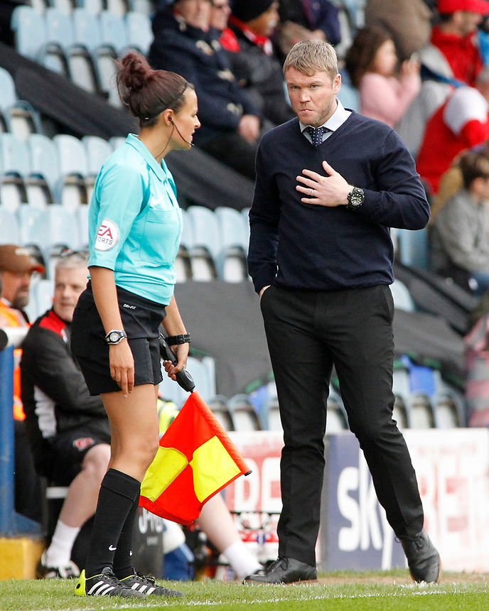 Peterborough United manager Grant McCann  prowls his technical area<br /> <br /> Photographer David Shipman/CameraSport<br /> <br /> The EFL Sky Bet League One - Peterborough United v Fleetwood Town - Friday 14th April 2016 - ABAX Stadium  - Peterborough<br /> <br /> World Copyright &copy; 2017 CameraSport. All rights reserved. 43 Linden Ave. Countesthorpe. Leicester. England. LE8 5PG - Tel: +44 (0) 116 277 4147 - admin@camerasport.com - www.camerasport.com