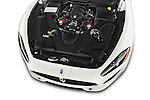 Car Stock 2014 Maserati GranTurismo Convertible Sport Door convertible Engine high angle detail view