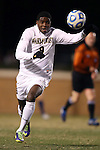 24 November 2013: Wake Forest's Sean Okoli. The Wake Forest University Demon Deacons played the Naval Academy Midshipmen at Spry Stadium in Winston-Salem, NC in a 2013 NCAA Division I Men's Soccer Tournament Second Round match. Wake Forest won the game 2-1.