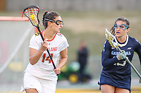 College Park, MD - February 25, 2017: Maryland Terrapins Nadine Hadnagy (14) in action during game between North Carolina and Maryland at  Capital One Field at Maryland Stadium in College Park, MD.  (Photo by Elliott Brown/Media Images International)