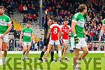 Aidan O'Mahony Rathmore gets a Red card in the dying moments of the semi-final of the County Senior Football Championship against Legion at Fitzgerald Stadium on Sunday.