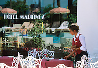 Europe/France/Provence-Alpes-Côte d'Azur/06/Alpes-Maritimes/Cannes : L'hotel Martinez sur la croisette [Non destiné à un usage publicitaire - Not intended for an advertising use]