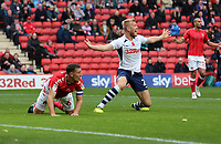 Jayden Stockley of Preston North End appeals for a penalty during Charlton Athletic vs Preston North End, Sky Bet EFL Championship Football at The Valley on 3rd November 2019