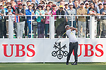 Thongchai Jaidee of Thailand tees off the first hole during the 58th UBS Hong Kong Golf Open as part of the European Tour on 08 December 2016, at the Hong Kong Golf Club, Fanling, Hong Kong, China. Photo by Marcio Rodrigo Machado / Power Sport Images