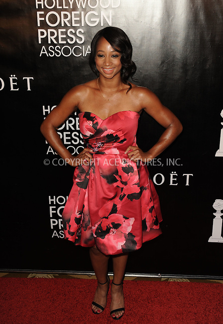 WWW.ACEPIXS.COM<br /> <br /> August 13 2015, New York City<br /> <br /> Monique Coleman arriving at the HFPA Annual Grants Banquet at the Beverly Wilshire Four Seasons Hotel on August 13, 2015 in Beverly Hills, California.<br /> <br /> <br /> By Line: Peter West/ACE Pictures<br /> <br /> <br /> ACE Pictures, Inc.<br /> tel: 646 769 0430<br /> Email: info@acepixs.com<br /> www.acepixs.com