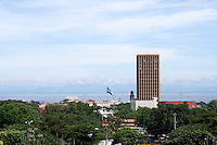 View of downtown Managua with Lake Mangua in the background, Managua, Nicaragua