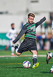 3 October 2015: Binghamton University Bearcat Forward/Midfielder Pascal Trappe, a graduate from Berlin, Germany, in action against the University of Vermont Catamounts at Virtue Field in Burlington, Vermont. The Bearcats held on to defeat the Catamounts 2-1 in America East conference play. Mandatory Credit: Ed Wolfstein Photo *** RAW (NEF) Image File Available ***