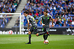Real Sociedad's Ruben Pardo and Mikel Oyarzabal (R) during La Liga match. May, 18th,2019. (ALTERPHOTOS/Alconada)