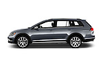 Car Driver side profile view of a 2017 Volkswagen Golf-Alltrack SEL 5 Door Wagon Side View
