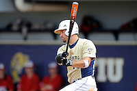 4 March 2012:  FIU infielder/outfielder Adam Kirsch (10) hits as the FIU Golden Panthers defeated the Brown University Bears, 8-3, at University Park Stadium in Miami, Florida.