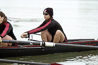 REDWOOD SHORES, CA - JANUARY 2002:  Alicia Gutierrez of the Stanford Cardinal during practice in January 2002 in Redwood Shores, California.