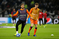 Kyle Walker of Manchester City warms up ahead of kick-off during Lyon vs Manchester City, UEFA Champions League Football at Groupama Stadium on 27th November 2018
