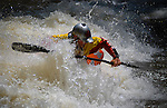 June 4, 2016 - Lyons, Colorado, U.S. -  Team Jackson paddler, Nick Troutman, sets up for a maneuver in Black Bear Hole on the South Saint Vrain River during freestyle competition at the Lyons Outdoor Games, Lyons, Colorado.