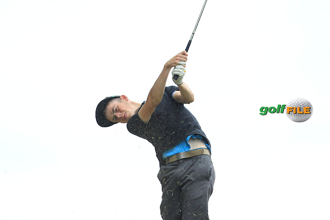 Stephen Kelliher (Killarney) on the 7th tee during Round 2 of the Irish Boys Amateur Open Championship at Tuam Golf Club on Wednesday 24th June 2015.<br /> Picture:  Thos Caffrey / www.golffile.ie
