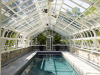 The floor of the original greenhouse was excavated to create a lap pool