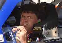 Mar 30, 2007; Martinsville, VA, USA; Nascar Nextel Cup Series driver Michael Waltrip (55) during qualifying for the Goody's Cool Orange 500 at Martinsville Speedway. Martinsville marks the second race for the new car of tomorrow. Mandatory Credit: Mark J. Rebilas.