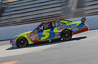 Mar 30, 2007; Martinsville, VA, USA; Nascar Nextel Cup Series driver Kyle Busch (5) during practice for the Goody's Cool Orange 500 at Martinsville Speedway. Martinsville marks the second race for the new car of tomorrow. Mandatory Credit: Mark J. Rebilas