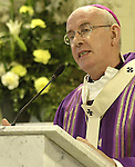 Most Rev. Dr. Sean Brady, Archbishop of Armagh addressing the congregation at the Re-Dedication of St. Brigid's Church, Dunleer.
