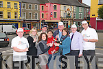 Best Shopping Town: Listowel traders celebrating Listowel being the 10th best shopping town in Ireland. Front : Martina McMahon, Brenda Woulfe & Kelly Browne. Back : John Wade, Jennifer Scanlon, Damian Stack, Pierse Walsh, John Carroll & Menno Roos.