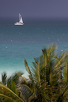 Sailboat at South Beach, Miami Beach, Florida, USA. Photo by Debi Pittman Wilkey
