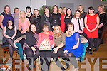 Helen O'Leary seated front centre from Cahersiveen celebrating her 50th birthday with family and friends at QC's Bar & Restaurant Cahersiveen on Saturday night.