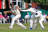 Dominic Sibley in batting action for Surrey during Surrey CCC vs Essex CCC, Specsavers County Championship Division 1 Cricket at Guildford CC, The Sports Ground on 11th June 2017