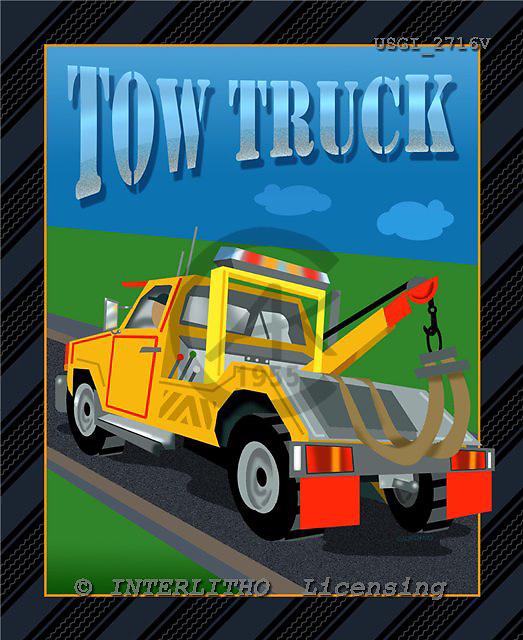 GIORDANO, TEENAGERS, JUGENDLICHE, JÓVENES, paintings+++++,USGI2716V,#J# tow truck ,everyday