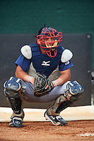 GCL Braves catcher William Contreras (20) in the bullpen during a game against the GCL Phillies on August 3, 2016 at the Carpenter Complex in Clearwater, Florida.  GCL Phillies defeated GCL Braves 4-3 in a rain shortened six inning game.  (Mike Janes/Four Seam Images)